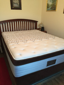 Sealy Posturpedic Queen  Mattress with Headboard