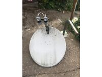 Satellite Dish with wall bracket