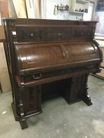 Antique Walnut Organ Desk