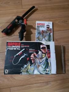 Rapala Wii fishing game with accessory