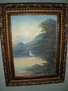 pair of antique original oil paintings. Kitchener / Waterloo Kitchener Area image 2
