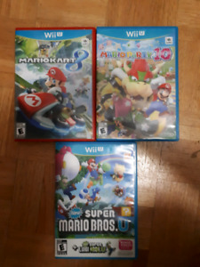 Wii U Mario Kart 8,  Mario Party 10, Super Mario Bros U
