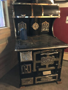 restored wood cook stove for sale
