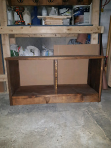 Custom made coat hanger with matching bench