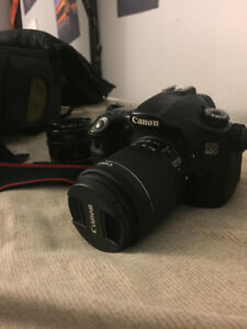 Canon 60D 18-55mm and 50mm + bag