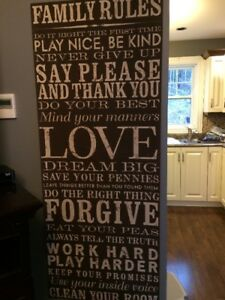 Family Rules Wall Decor