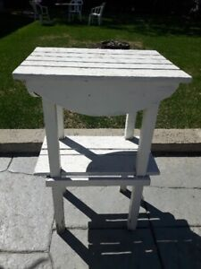 High Wooden outdoor table