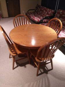 Dinning table, coffee table, end tables and chairs
