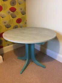 Beautiful teal & grey dining table (refurbished)