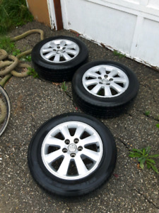 3 Toyota rims and tires