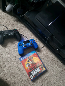 Ps4 + red dead 2 bundle (2 controllers+ a lot more games) 500$