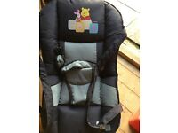 Disney high chair and carry bouncy seat
