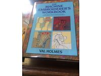 Machine embroidery book