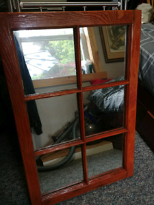 Antique Window Pane Mirror