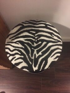 Zebra print table