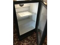 Bar fridge with glass door