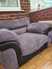 Grey sofa chair