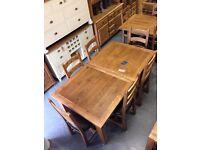 1.8m 2.4m extending oak dining table
