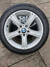 "Genuine BMW alloys 5x120 17"" 225/50/17 tyres"