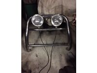 Volkswagen caddy bull bar with lamps