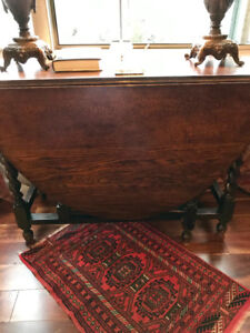Antique folding dining table solid wood