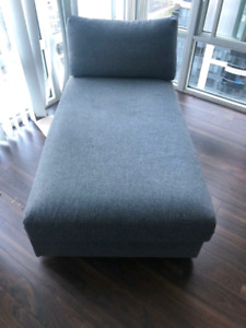 Sectional Sofa  with Pillow also having storage space available