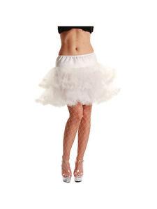 Adult-White-3-Layer-Ruffled-Petticoat-New-Fancy-Dress-Costume-Skirt-Tutu-Womens
