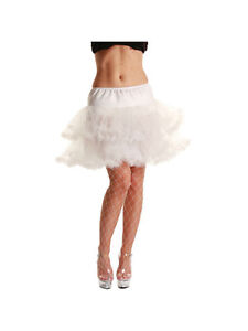 Adult White 3 Layer Ruffled Petticoat New Fancy Dress Costume Skirt Tutu Womens