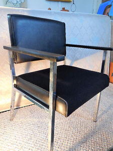 Chrome Office Chairs / 6 stationary