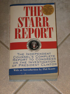 ...The STARR REPORT...The Investigation of Pres.Clinton....