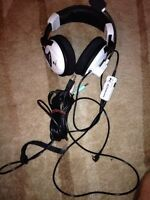 Turtle Beach Ear Force X11 White Headband Headsets for Xbox 360