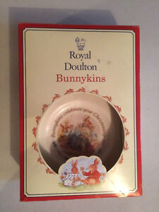 Royal Doulton Bunnykins Christening Plate & Cup With Box