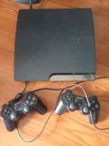 Sony play station 3  with 2 controllers several games 160gb slim