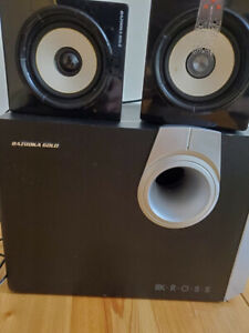 Kross Bazooka Gold Stereo Speakers