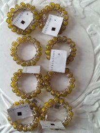 🌟🎁🛍8 brand new Debenhams golden yellow napkin holders