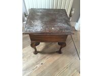 Wooden Sewing Style Table with Lid