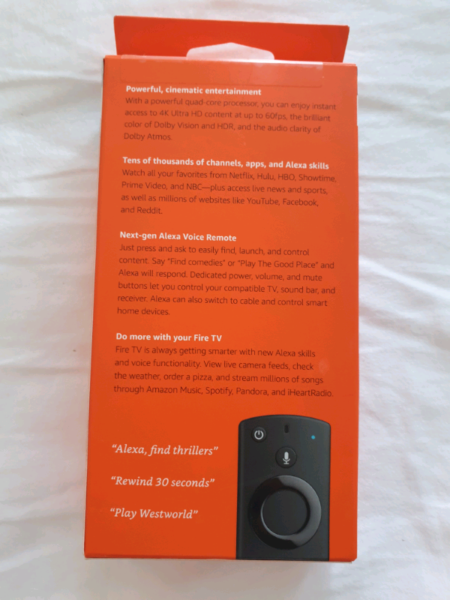 Amazon Fire TV 4K - netflix, etc  Brand new sealed | Other TV & DVD