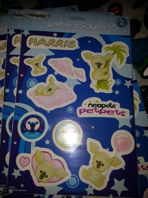 1 CODE ONLY, NO SHIPPING From sheet Neopets Harris JUMBO stickers RARE ITEM CODE