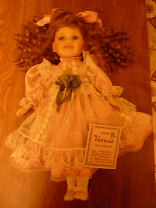 Vanessa Ricardi fine genuine porcelain doll