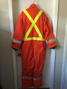 Men's Orange Safety Construction Work Suit Size XL Tall London Ontario image 2