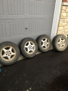 Alloy rim with winter tires