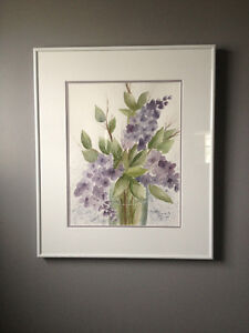 REDUCED - Beautiful Lilac flower painting