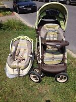 Infant car seat and stroller duo