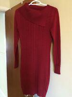 Red Knit Tunic/ Sweater Dress