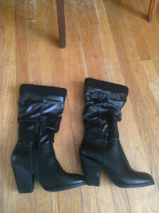 Never Worn Black High Heel Boots Kitchener / Waterloo Kitchener Area image 3