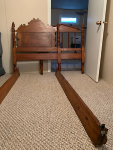 Bed Frame with matching dresser