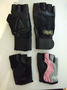 His and Her workout gloves