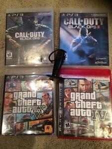 PS3 games & wireless earpiece