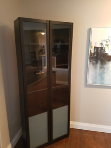 Billy Bookshelf with Glass Doors - Two