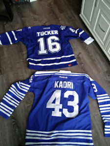 Two Maple Leaf Jerseys Tucker and Kadri